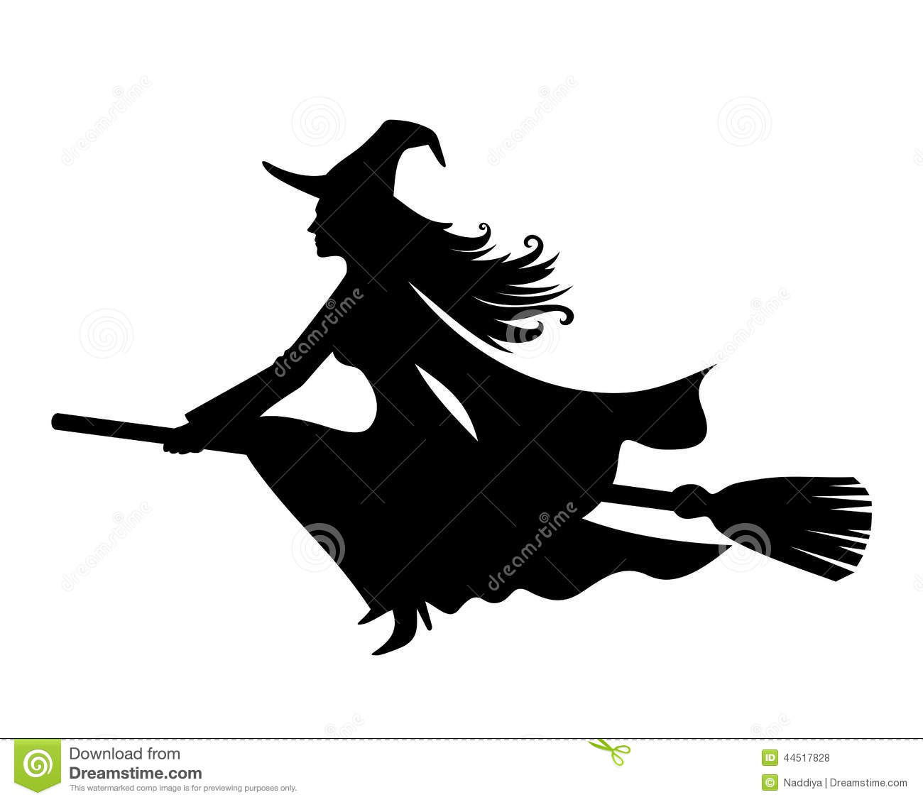 silhouette of witch on broomstick silhouette of witch flying on broom stock vector image on of silhouette broomstick witch