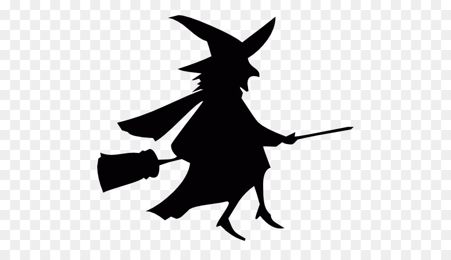 silhouette of witch on broomstick the beautiful silhouette of a witch on a broom stock broomstick of on witch silhouette