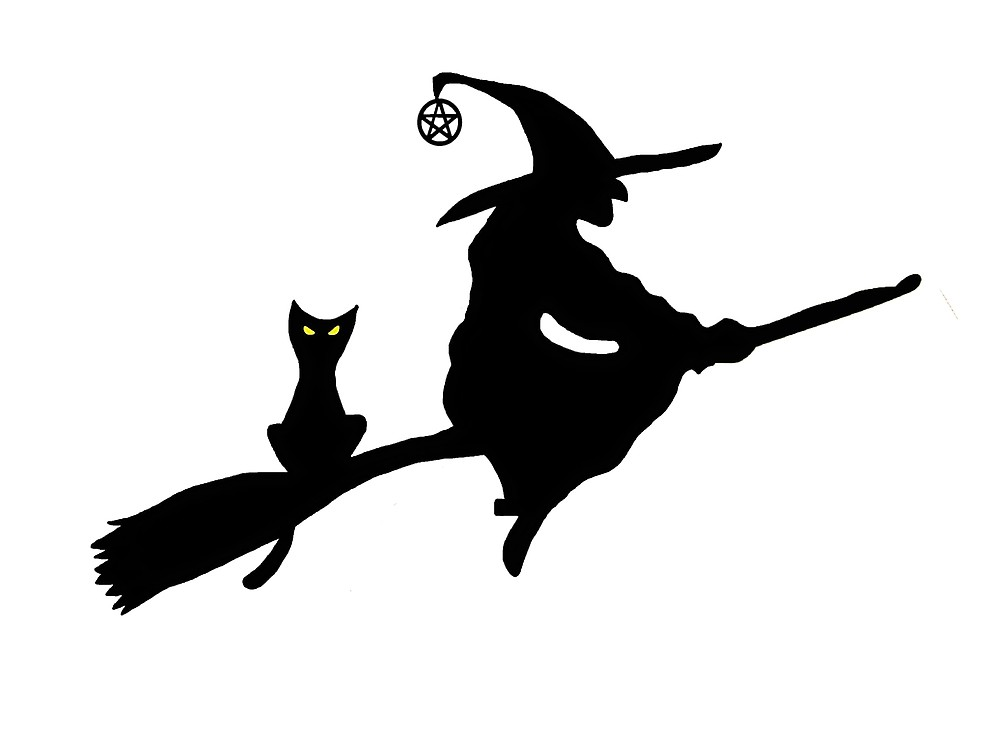 silhouette of witch on broomstick witch on a broom silhouette at getdrawingscom free for on broomstick witch of silhouette