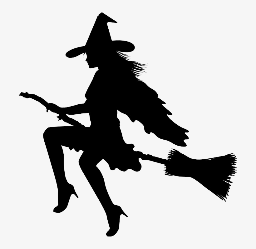silhouette of witch on broomstick witch on broom silhouette png transparent png 700x717 silhouette on of broomstick witch