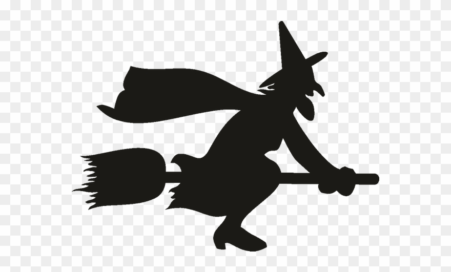 silhouette of witch on broomstick witch on broomstick silhouette at getdrawings free download witch of broomstick on silhouette