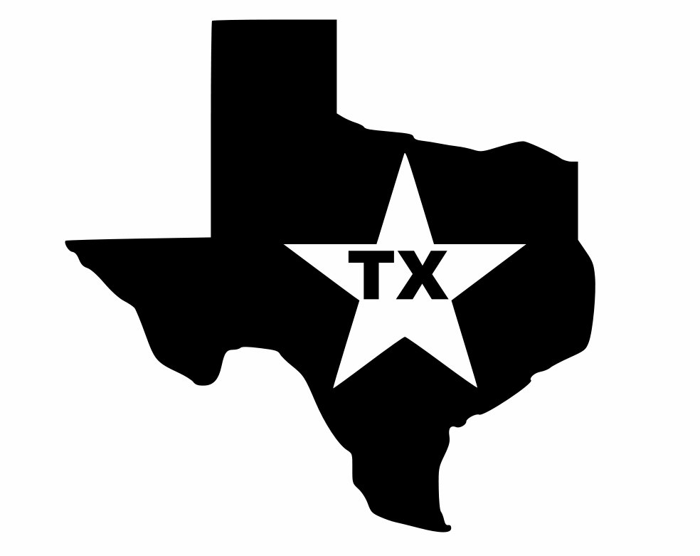 silhouette texas quotstate of texas silhouette in bold black quot photographic silhouette texas