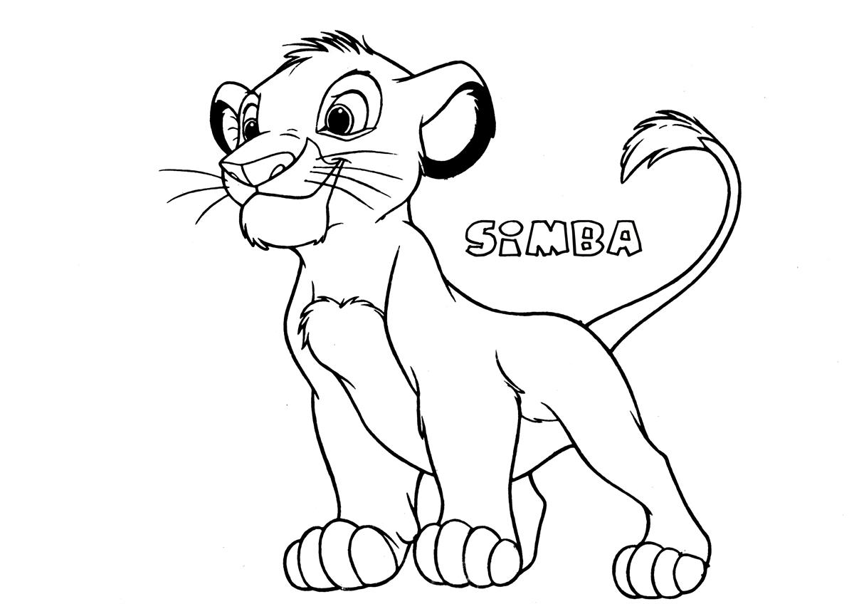 simba printable coloring pages lion king simba coloring pages getcoloringpagescom simba printable pages coloring