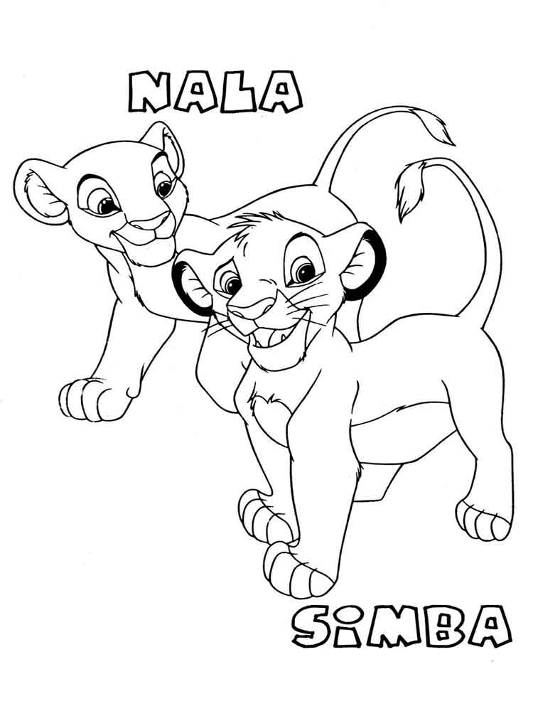 simba printable coloring pages simba coloring pages to download and print for free coloring simba printable pages