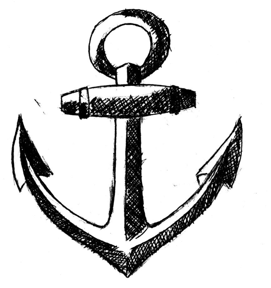 simple anchor drawing free printable anchor coloring pages at getdrawings free simple anchor drawing