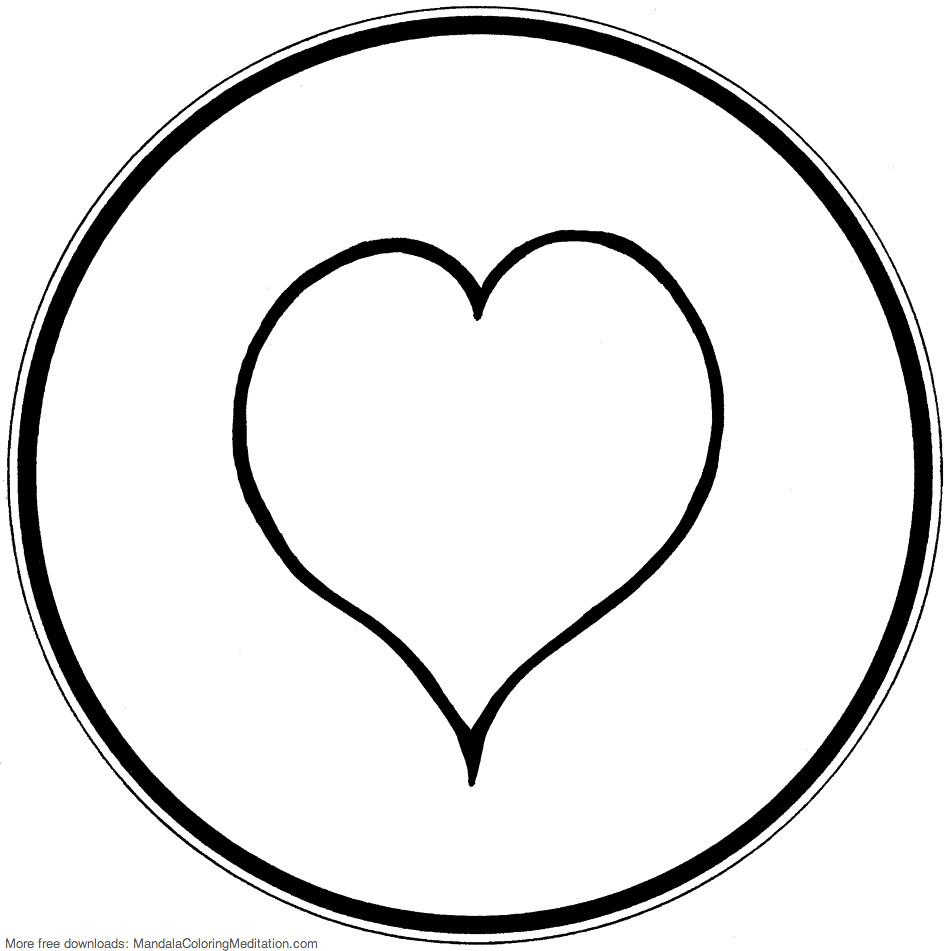 simple heart coloring pages best free heart coloring pages heart activity book coloring simple heart pages