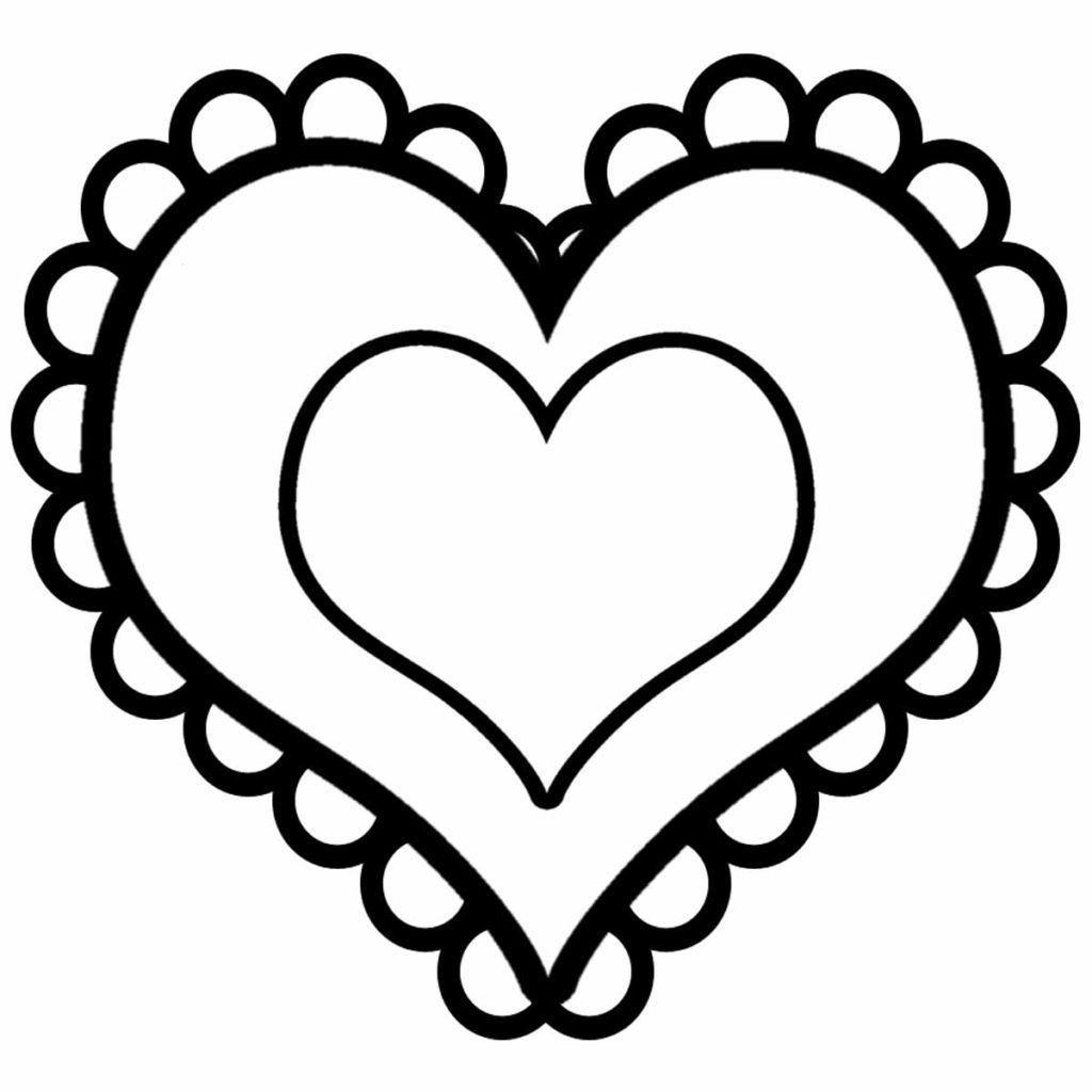 simple heart coloring pages printable children coloring page heart mandala 1 a simple pages heart coloring