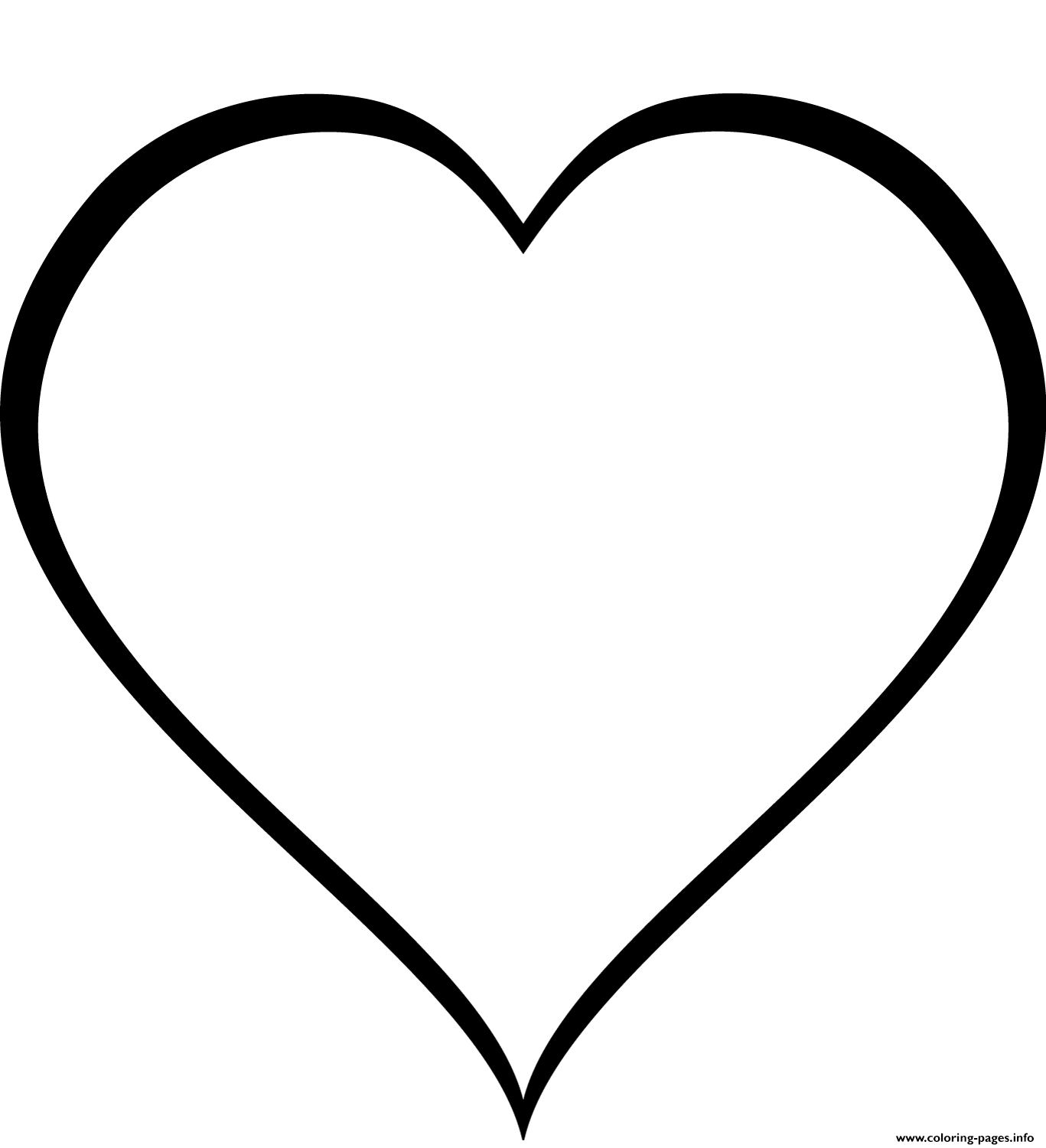 simple heart coloring pages simple heart coloring page free printable coloring pages heart simple coloring pages