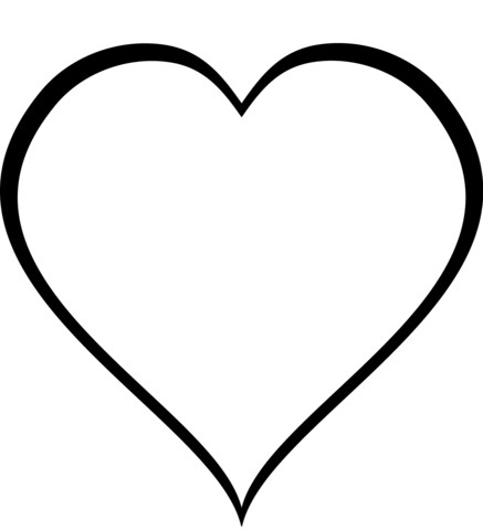 simple heart coloring pages simple heart drawing clipartsco simple pages coloring heart