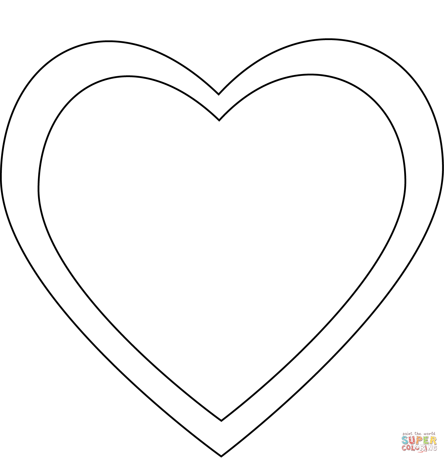 simple heart coloring pages simple heart super coloring in 2020 heart coloring heart pages simple coloring