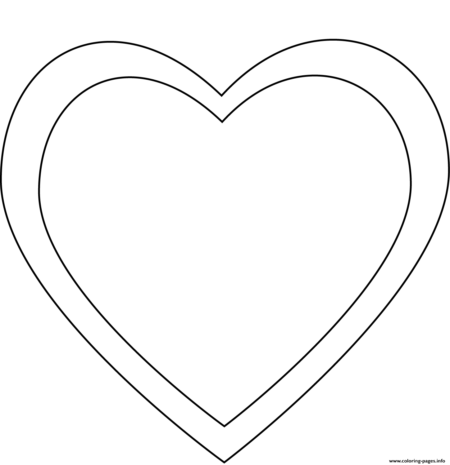 simple heart coloring pages simple heart super coloring in 2020 heart coloring simple coloring pages heart