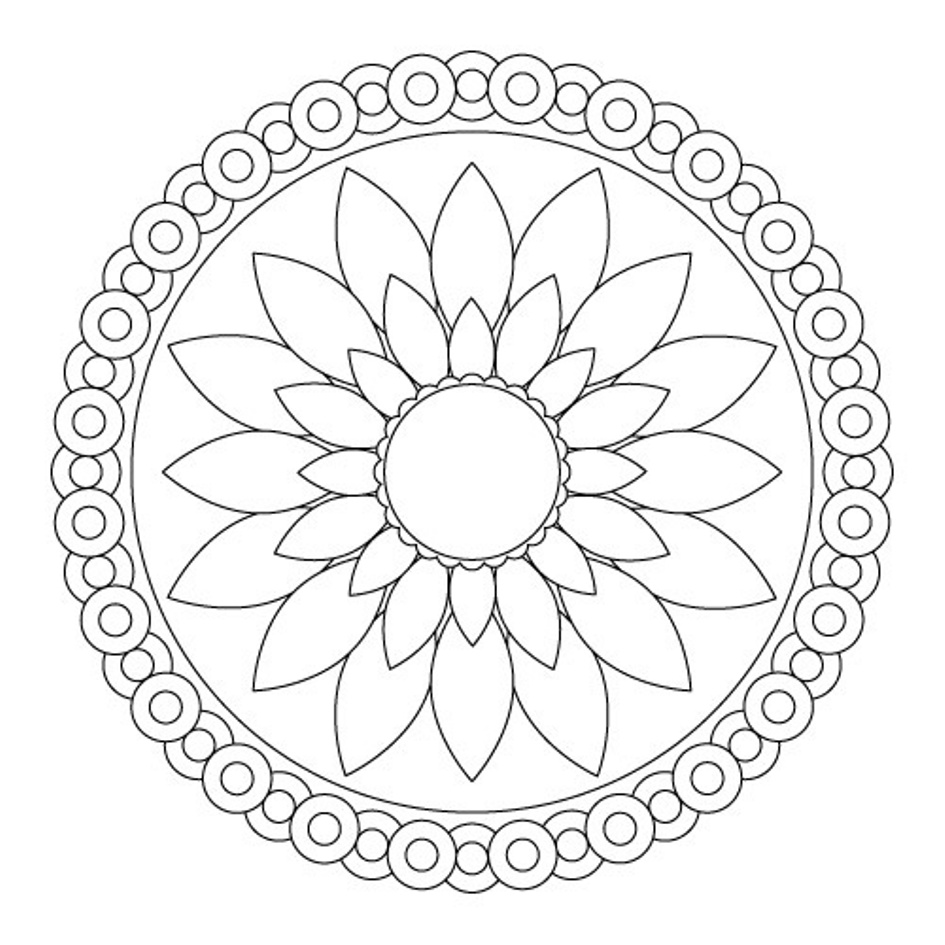 simple mandalas to color beautiful mandala with cute flowers mandalas with mandalas to color simple