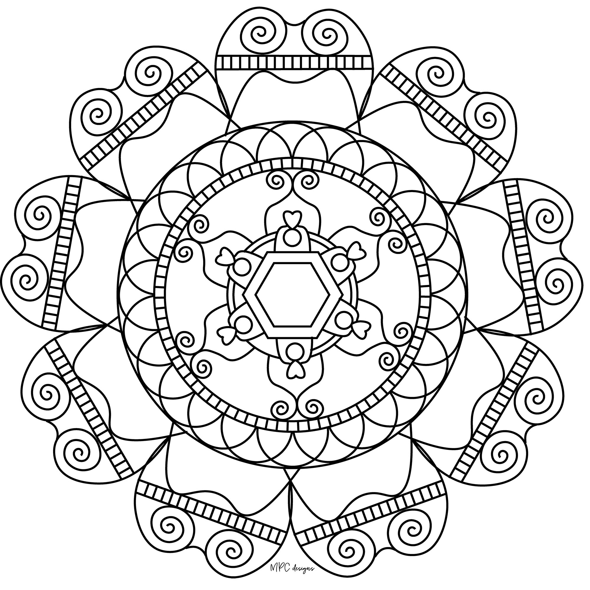 simple mandalas to color coloring pages mandala simple at getdrawings free download to simple color mandalas