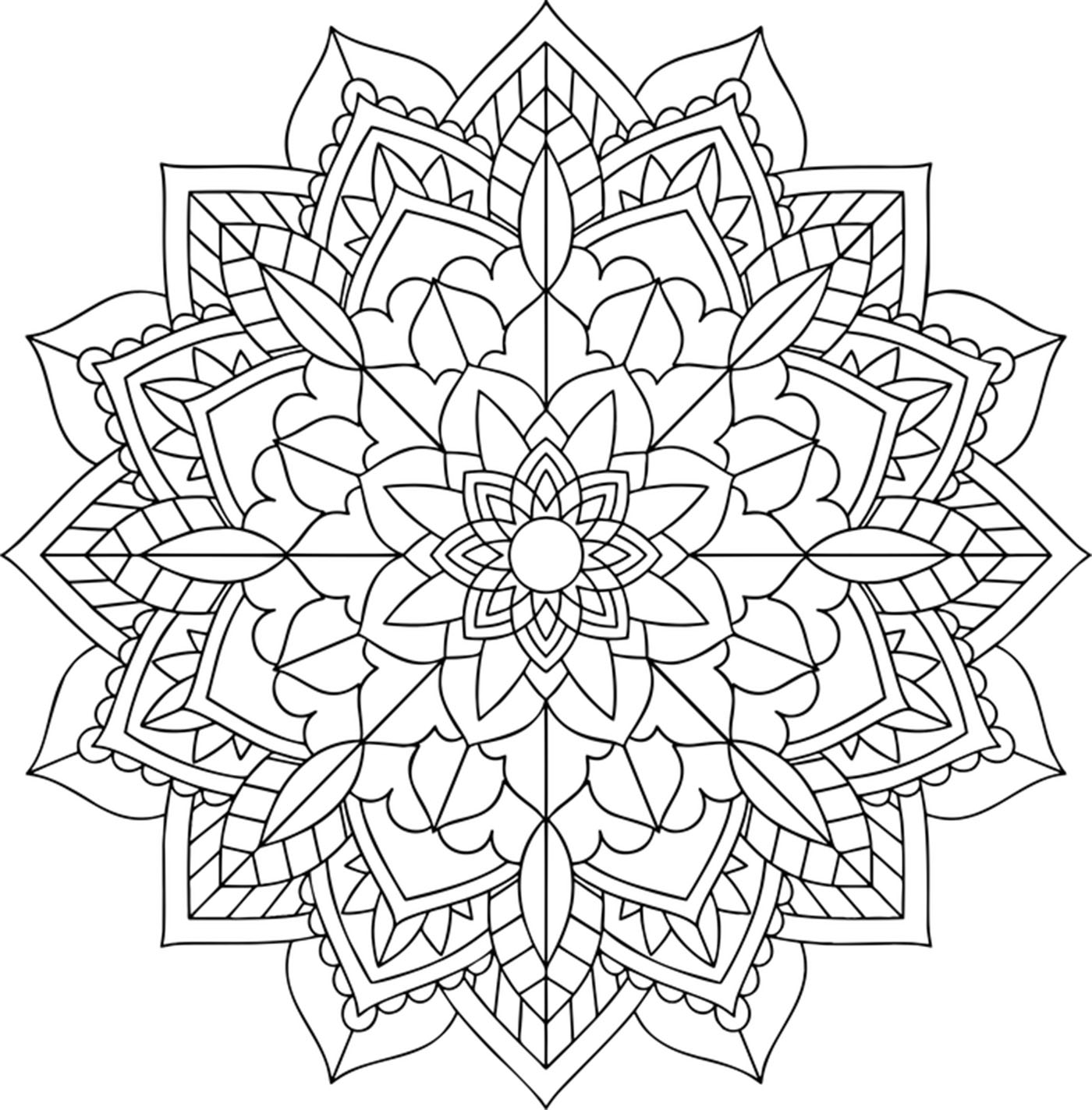 simple mandalas to color easy flower with leaves simple mandalas 100 mandalas simple color mandalas to