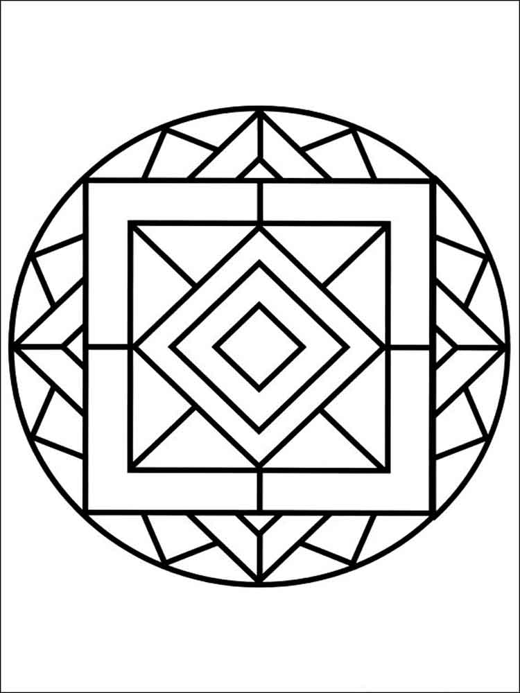 simple mandalas to color printable children coloring page square mandala an simple mandalas to color
