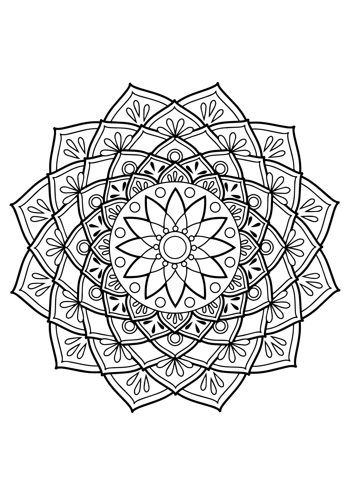 simple mandalas to color simple mandala 18 mandalas coloring pages for kids to color simple to mandalas