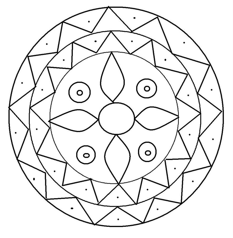 simple patterns to colour free printable geometric design coloring pages coloring home to patterns simple colour