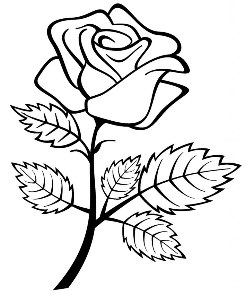simple rose coloring pages roses coloring pages to print coloring home coloring rose simple pages