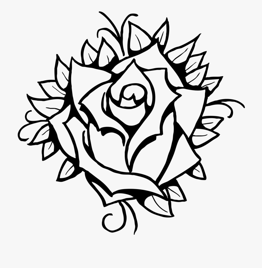 simple rose coloring pages simple drawing roses at getdrawings free download rose pages coloring simple
