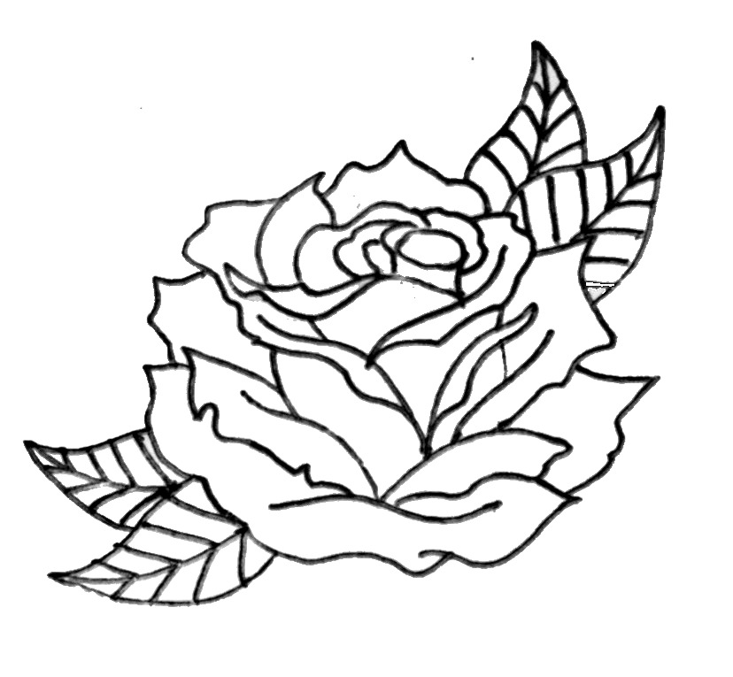 simple rose coloring pages simple rose coloring pages pages simple rose coloring