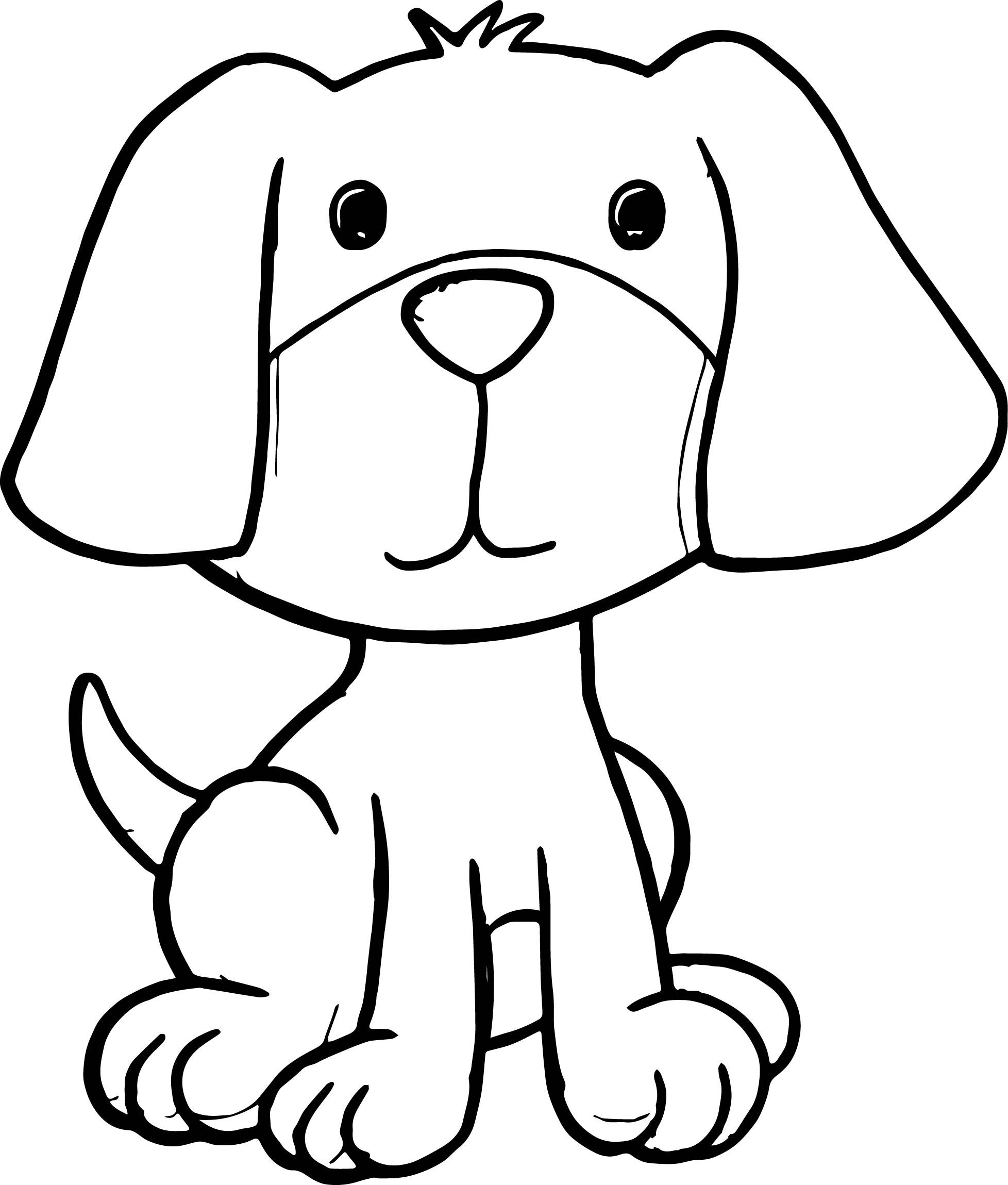 sitting dog coloring pages cartoon dog coloring page in 2020 puppy cartoon puppy pages coloring sitting dog