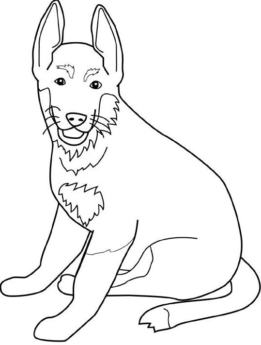 sitting dog coloring pages dog sitting relaxed dog sitting pages coloring