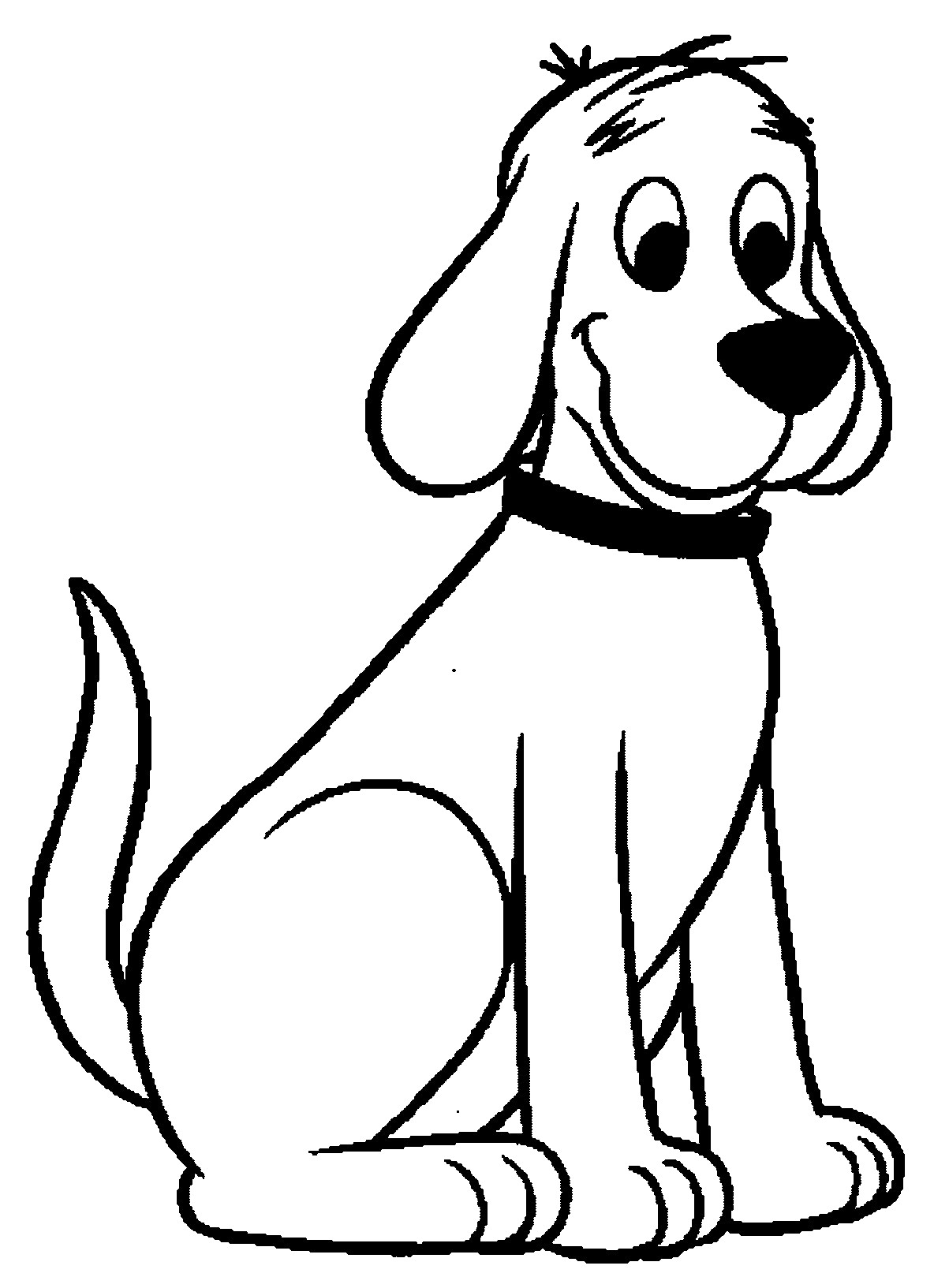 sitting dog coloring pages sitting dog drawing free download on clipartmag sitting pages coloring dog