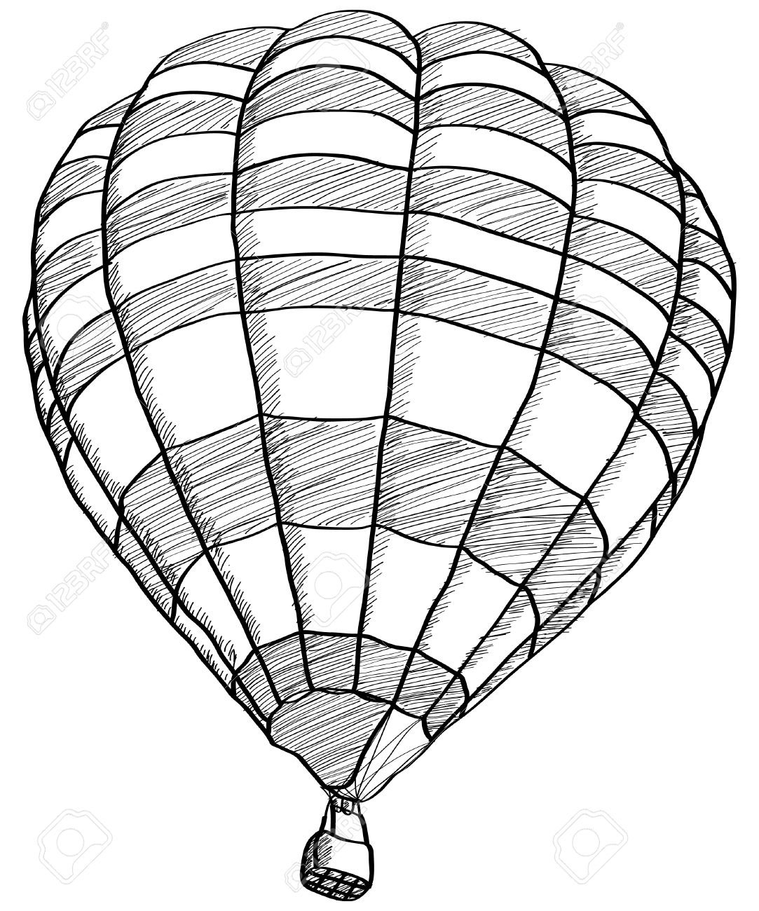 sketch of a balloon hot air balloon illustration drawing engraving ink line balloon a of sketch