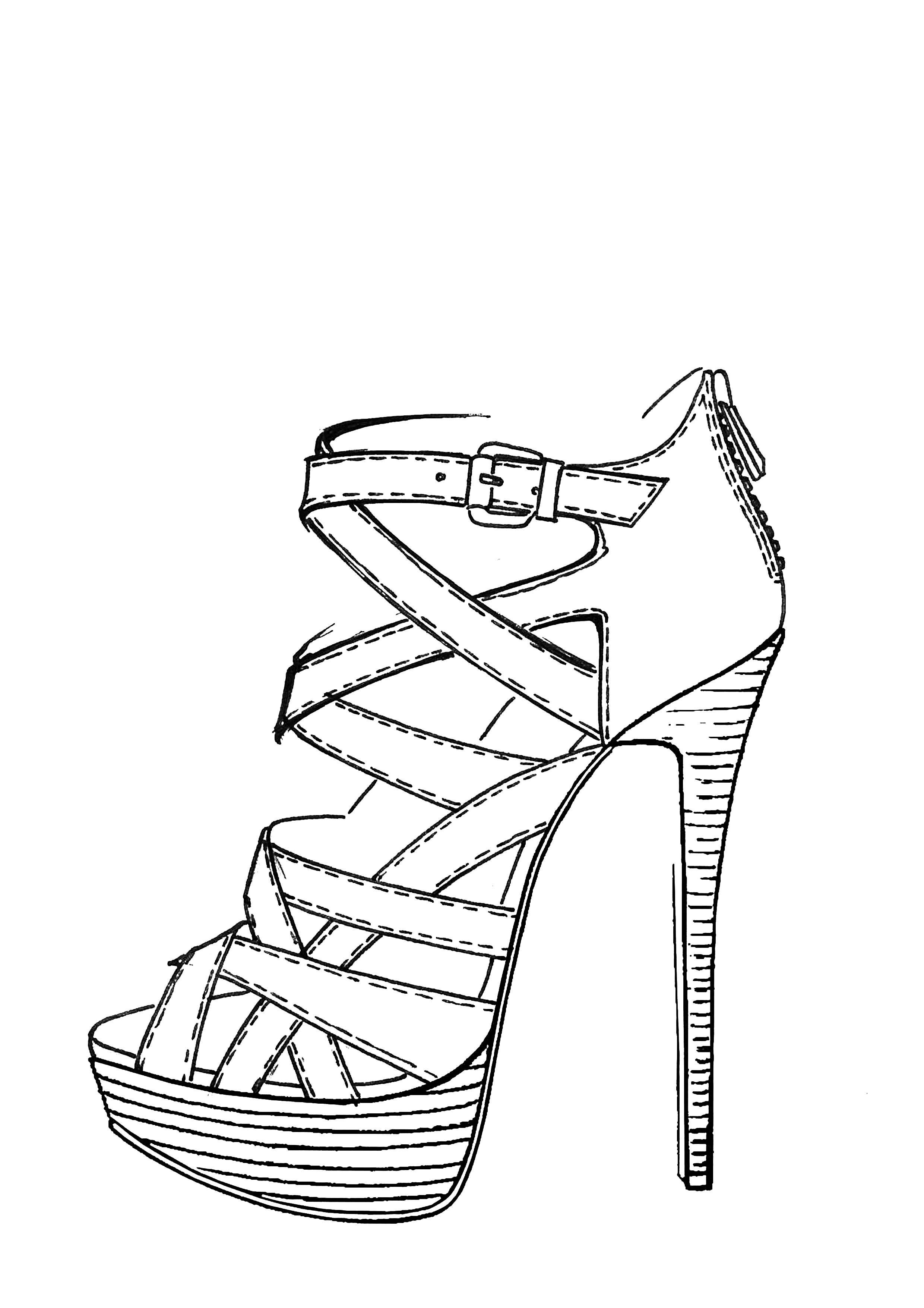 sketch of a high heel shoe how to draw a high heel shoe step by step drawing heel a of shoe high sketch