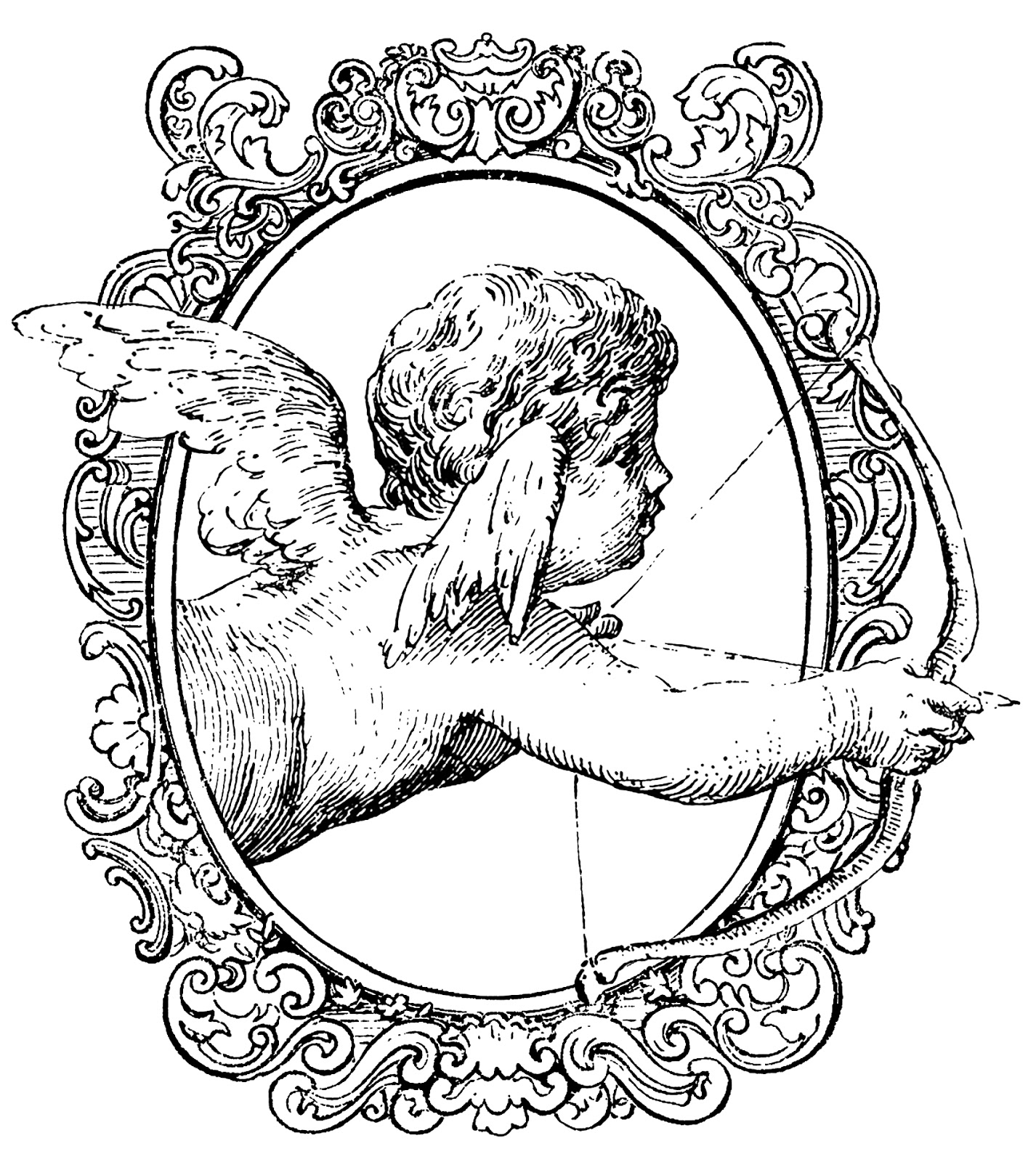sketch of cupid cupid drawing cartoon illustration of outlined baby cupid of sketch cupid