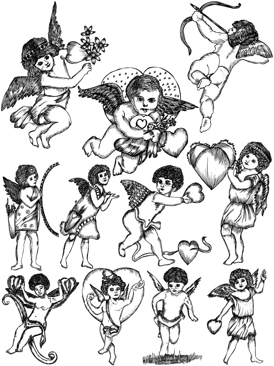 sketch of cupid printable art work for the 85 x 11 printable size click cupid of sketch