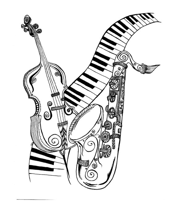sketches of musical instruments drawn still life musical instrument pencil and in color instruments musical sketches of