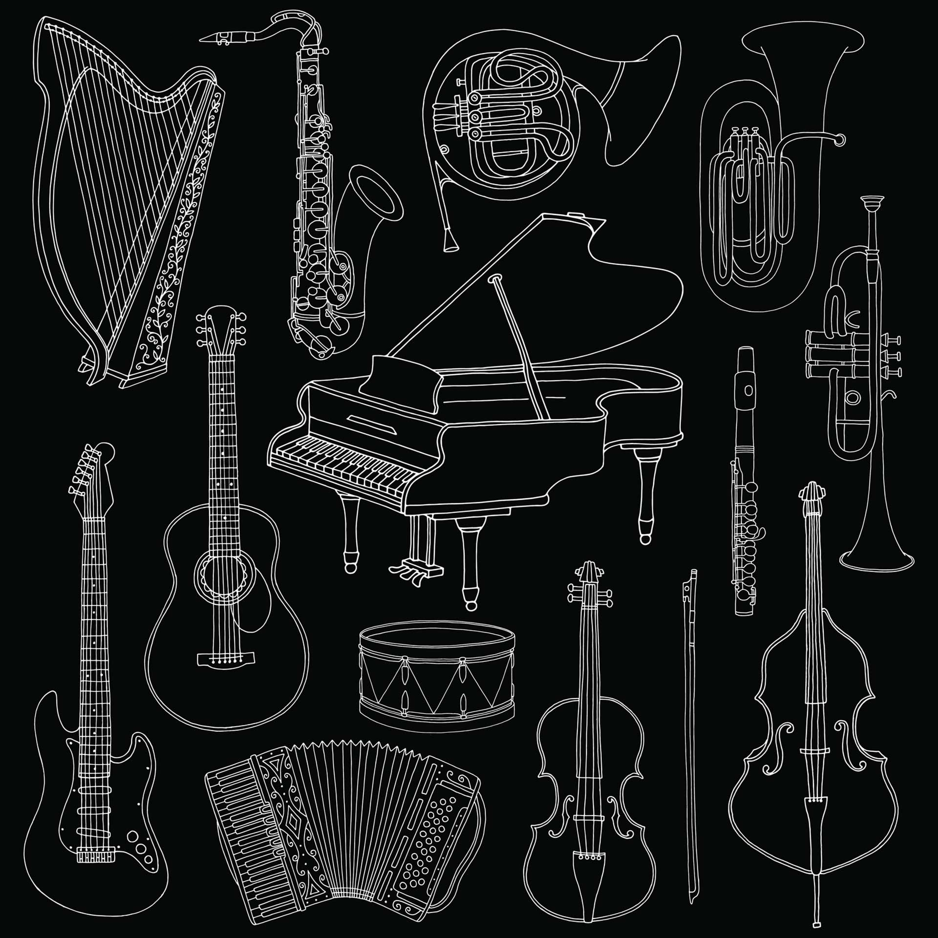 sketches of musical instruments hand drawn musical instruments how to draw hands of sketches instruments musical