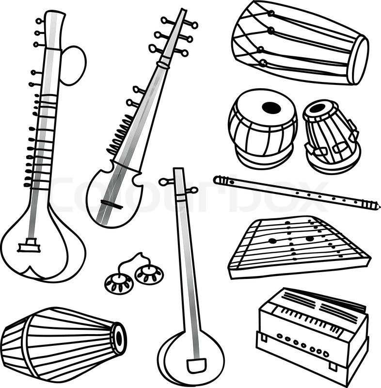 sketches of musical instruments musical instruments drawing at getdrawings free download of instruments musical sketches