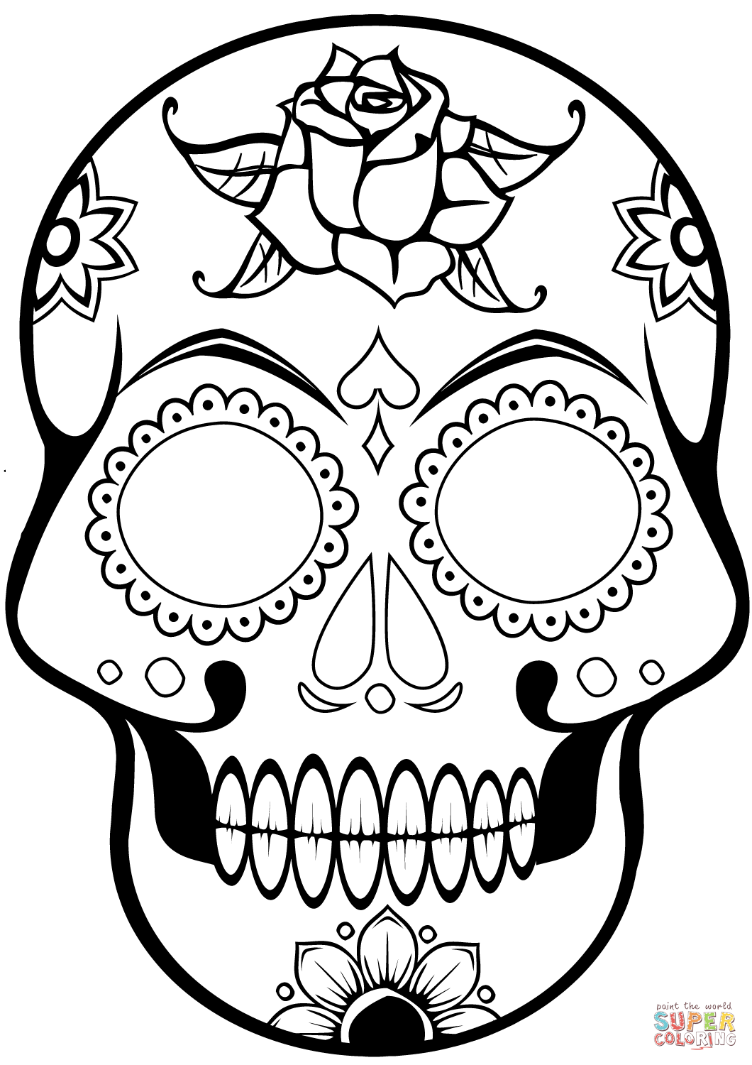 skull coloring book 30 free printable sugar skull coloring pages skull book coloring
