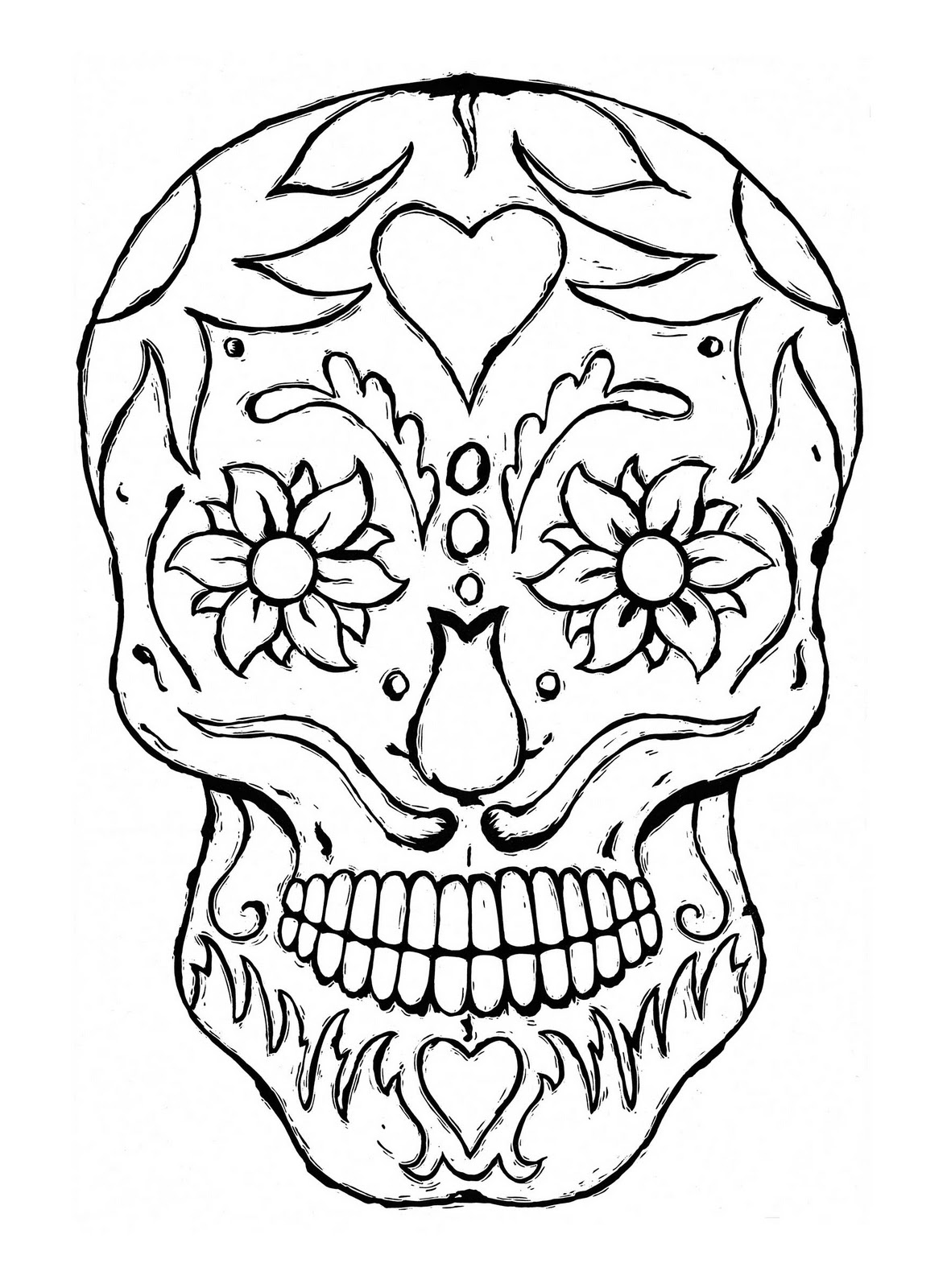 skull coloring book sugar skull coloring page  coloring home book coloring skull