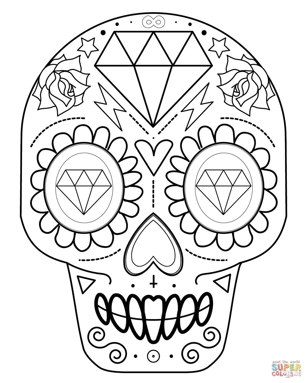 skull coloring book sugar skull tatoo hard adult difficult coloring pages skull coloring book