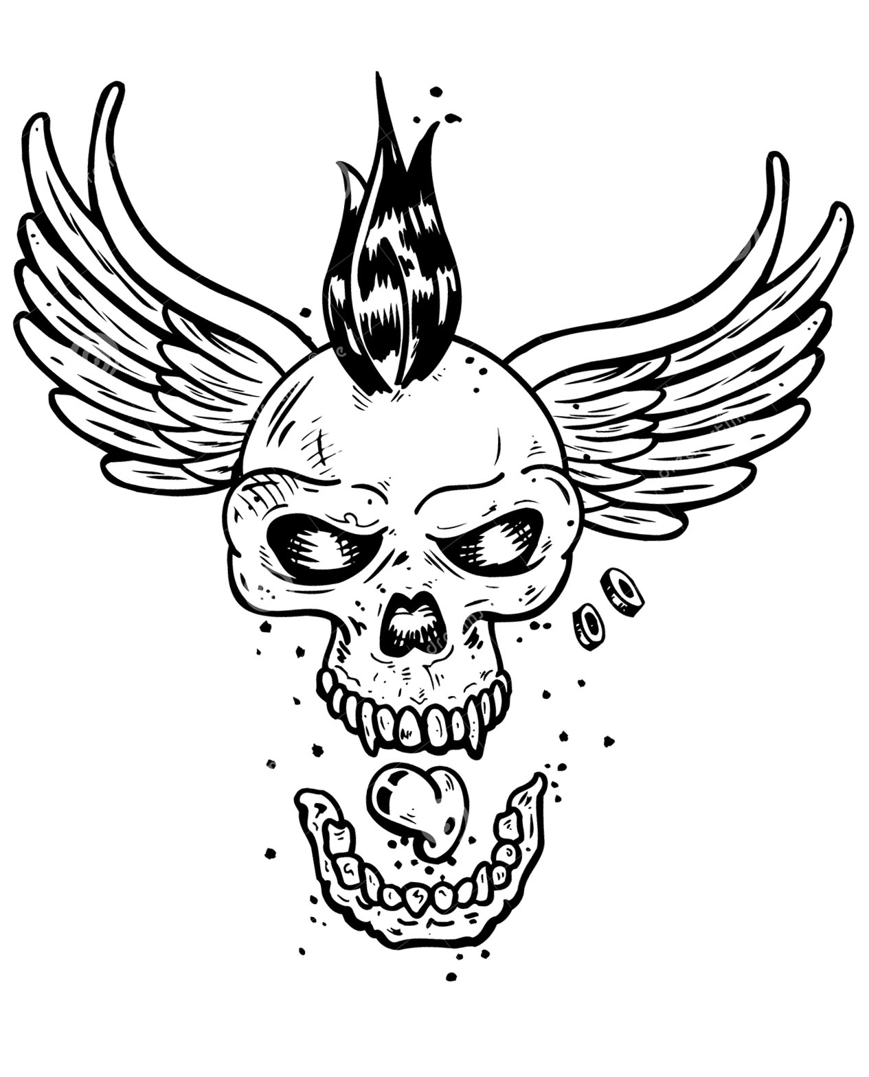 skull tattoo coloring pages 17619074 skull and roses with ribbonjpg 615800 skull pages skull coloring tattoo