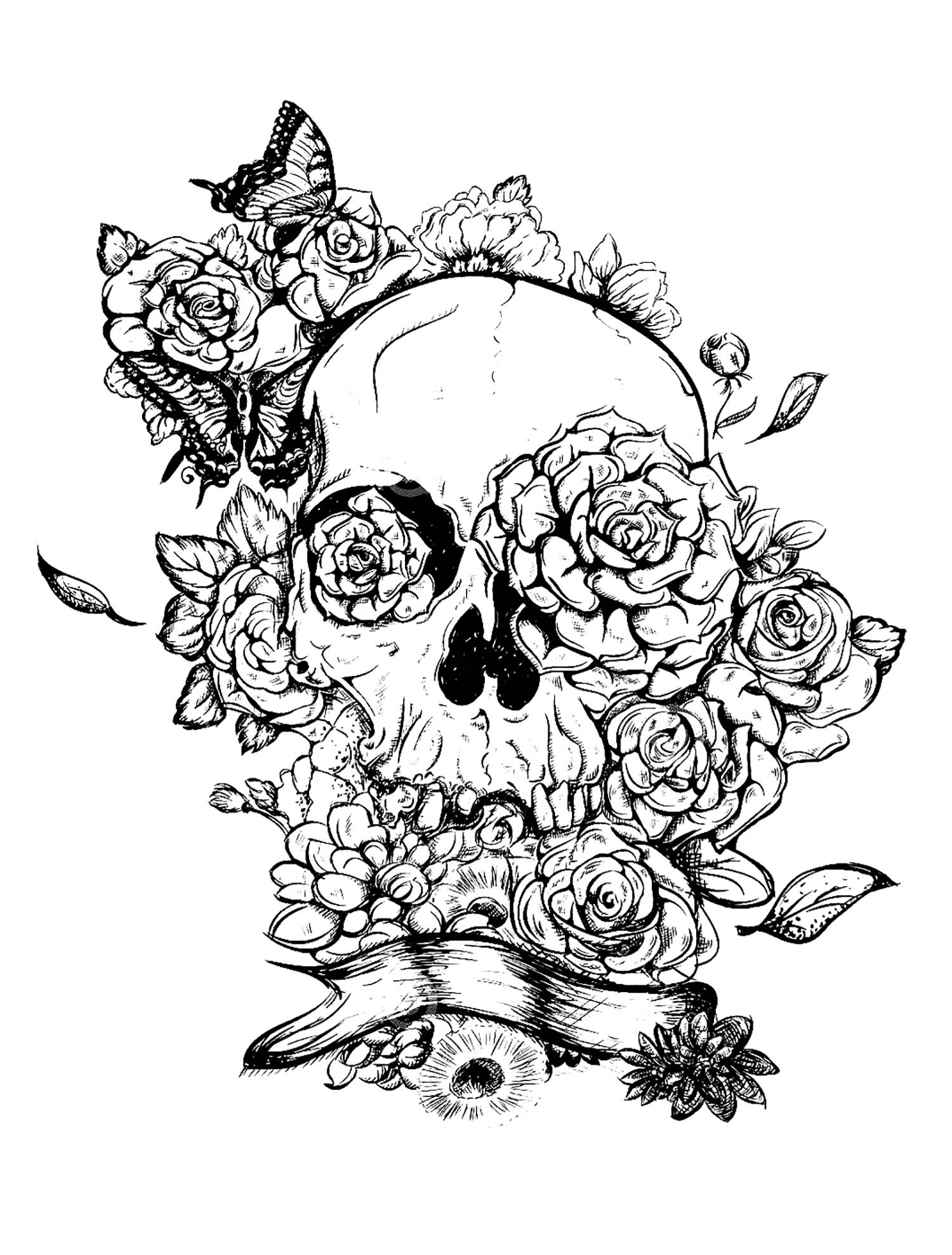 skull tattoo coloring pages 591 best skull coloring dia de los muertos images on tattoo skull coloring pages