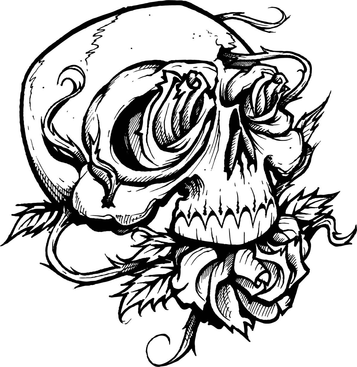 skull tattoo coloring pages pin by valarie ante on color me sweary coloring pages tattoo pages skull coloring