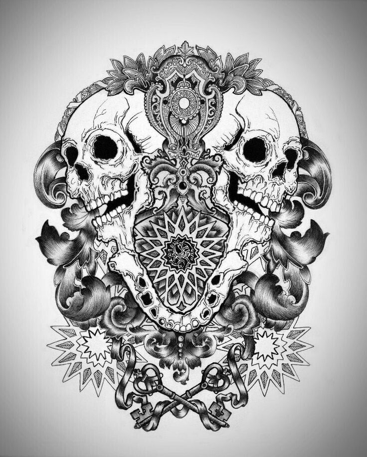 skull tattoo coloring pages pin on future tatts skull pages coloring tattoo