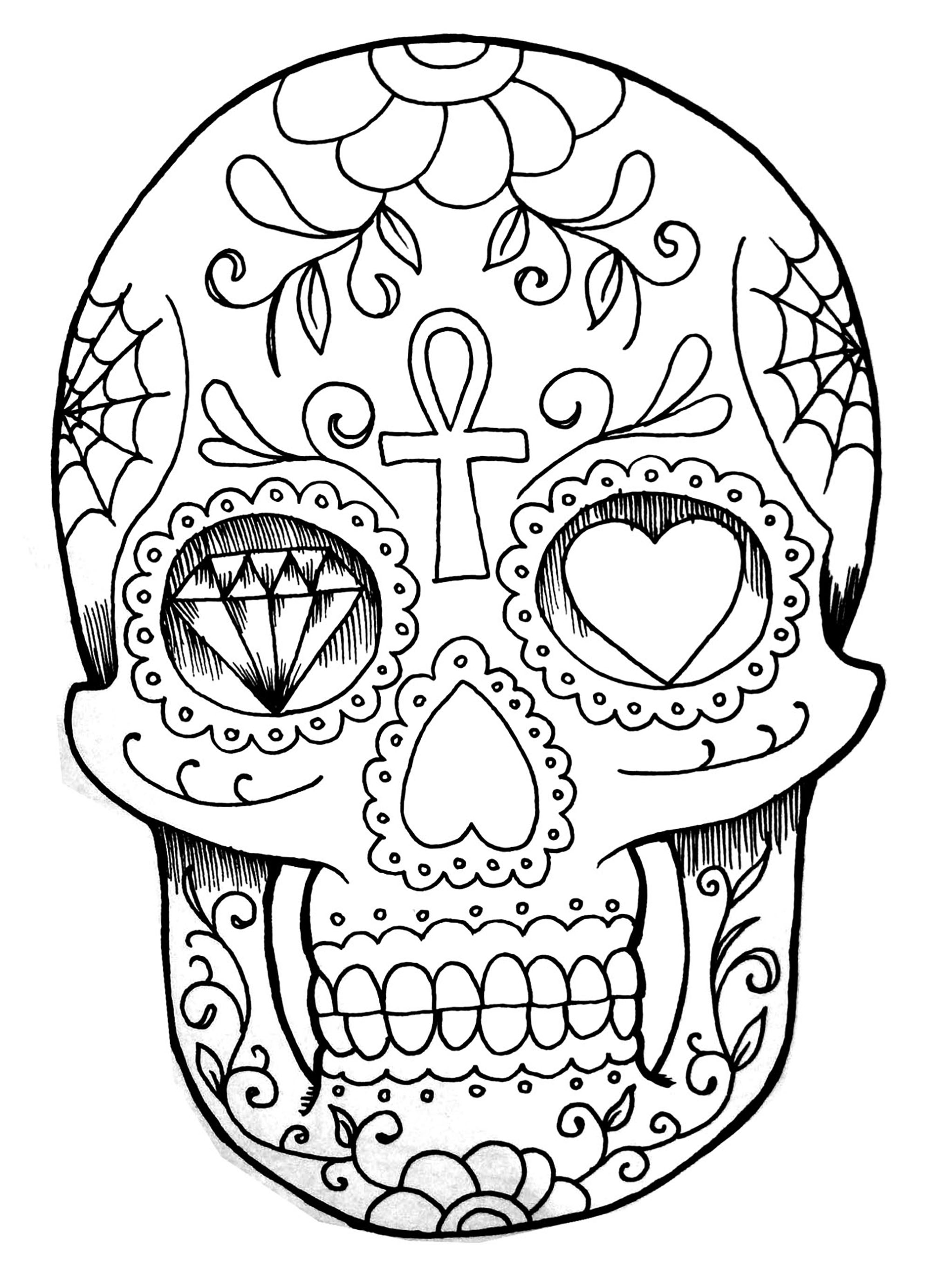 skull tattoo coloring pages sugar skulls wip by jessicacanvas on deviantart skull coloring pages tattoo
