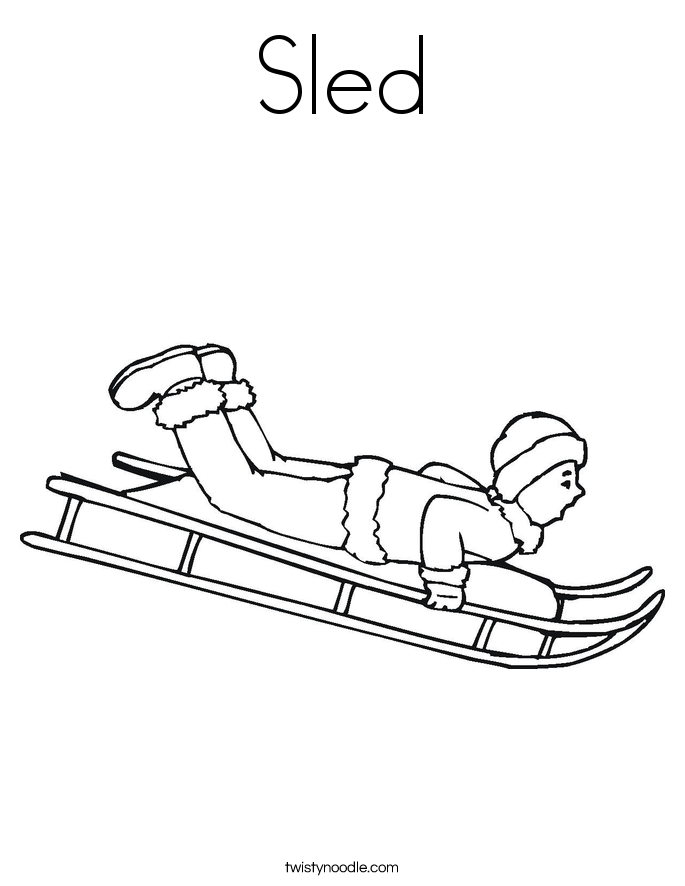 sled coloring sheet winter sledding coloring pages download and print for free sled coloring sheet