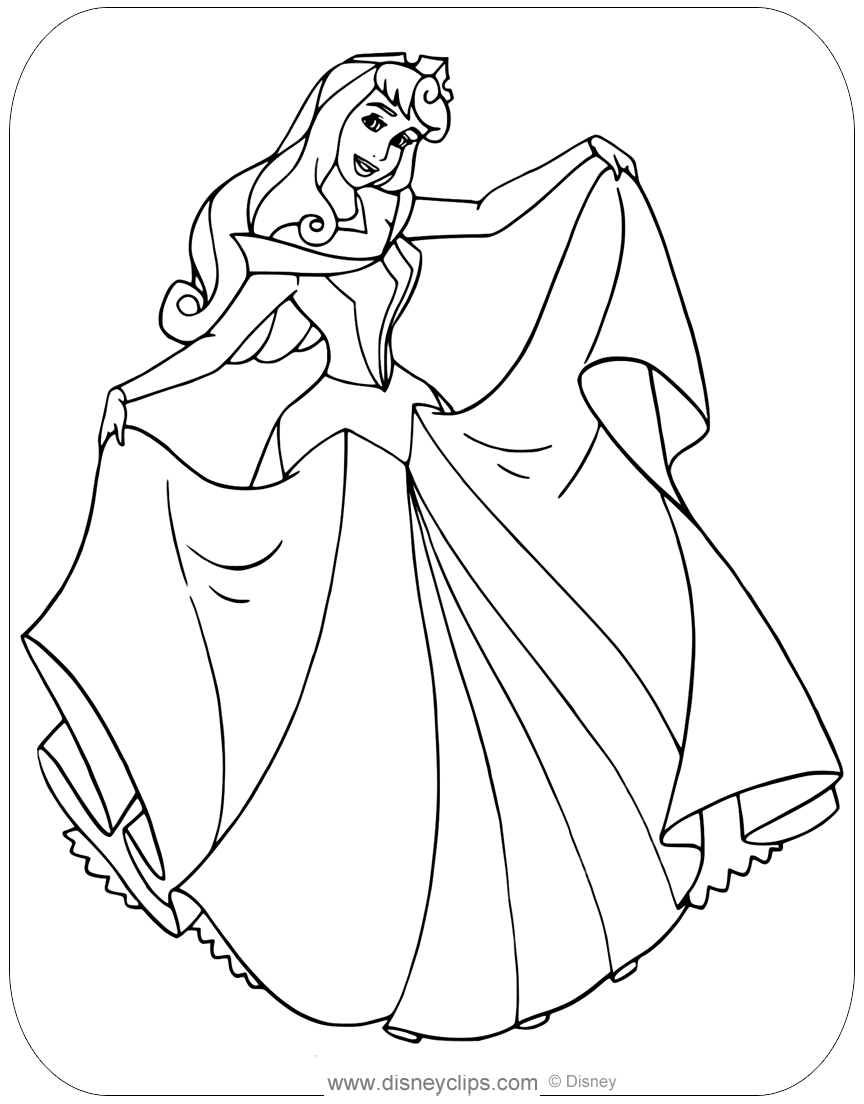 sleeping beauty coloring pages sleeping beauty coloring pages disneyclipscom sleeping pages beauty coloring