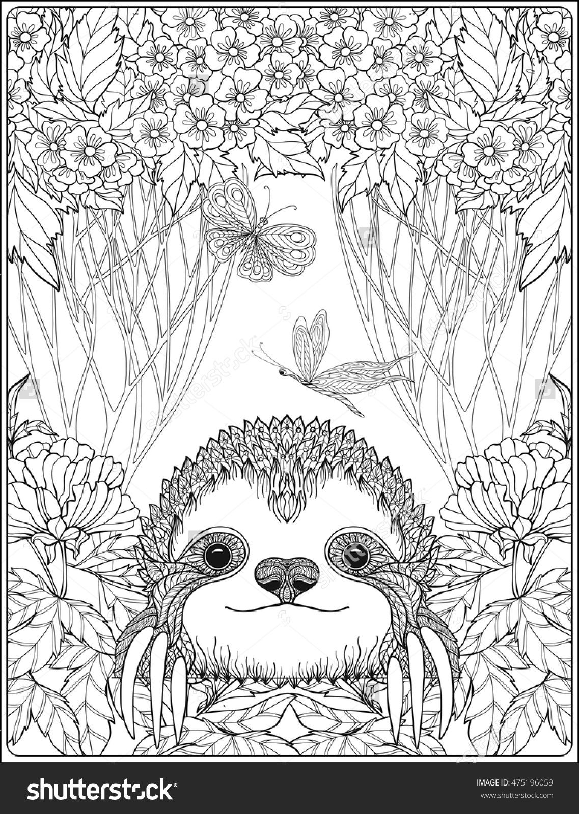 sloth coloring page sloth coloring pages realistic three toed sloth free coloring sloth page