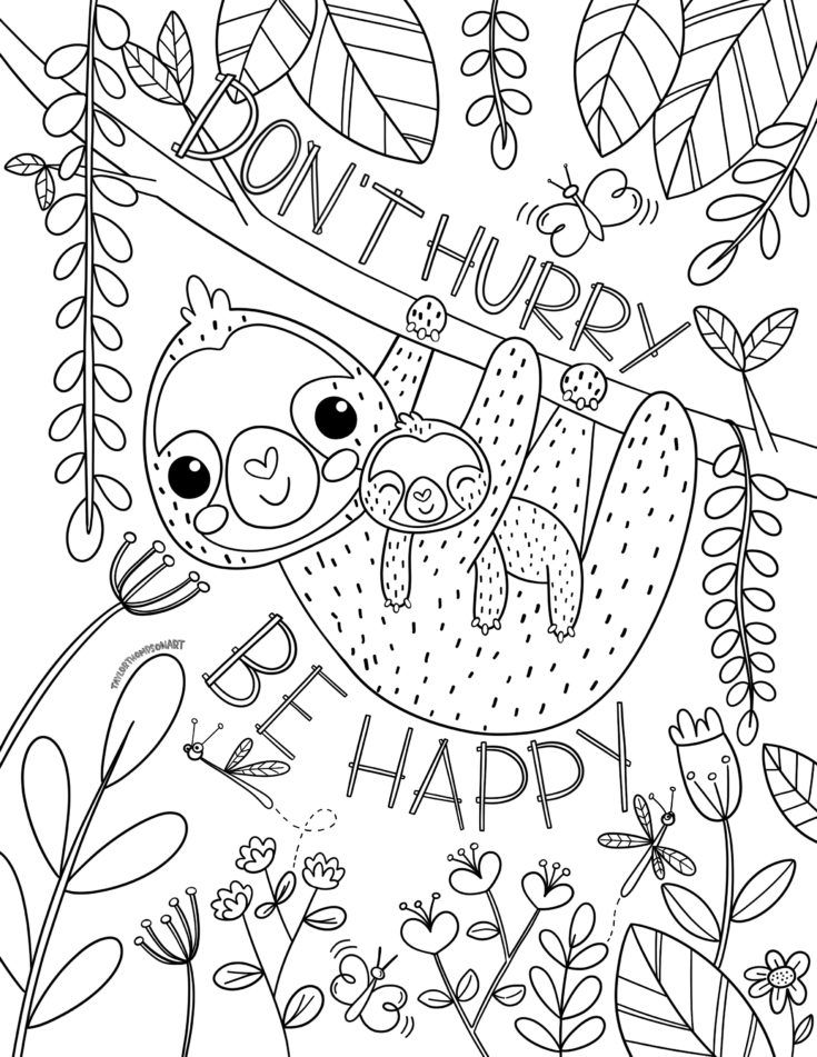 sloth coloring page sloth simple coloring pages print coloring 2019 sloth page coloring