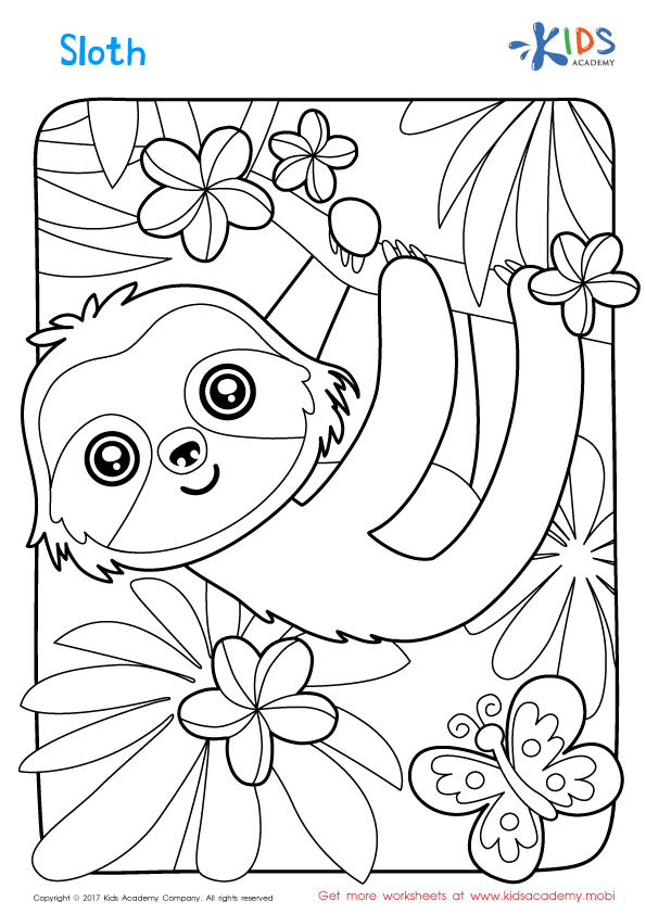 sloth coloring page three toed sloth coloring online super coloring coloring sloth page