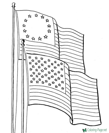 small american flag coloring page american flag line drawing at getdrawings free download american page small flag coloring