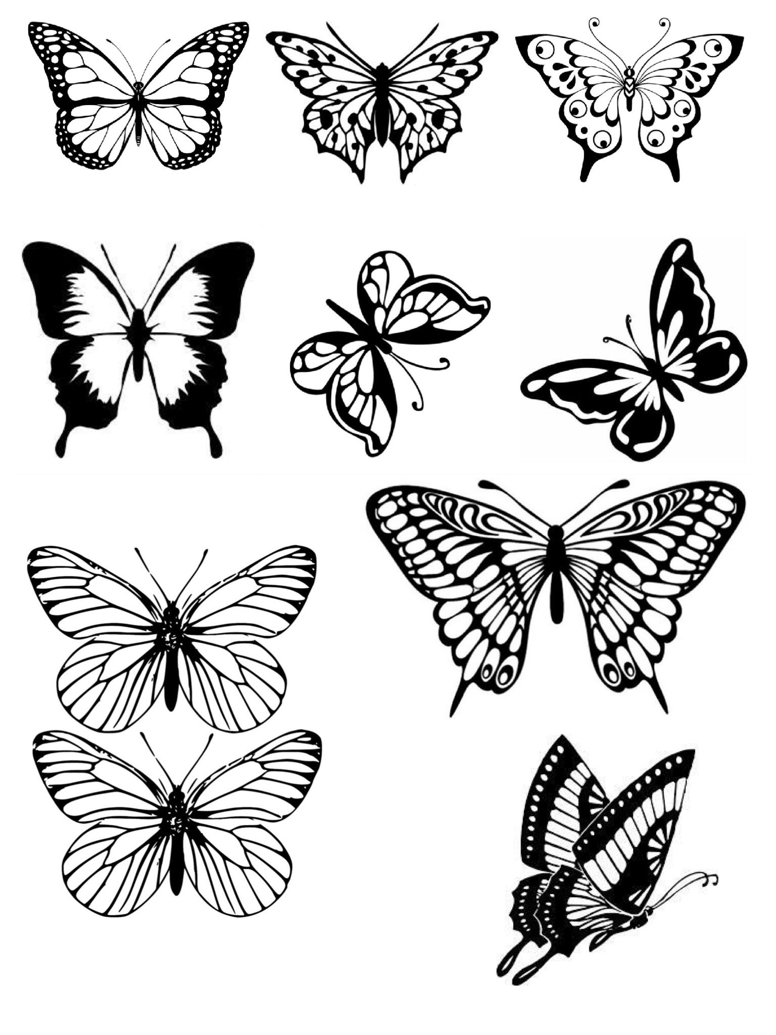small butterfly coloring pages free butterfly stencil monarch butterfly outline and coloring pages small butterfly