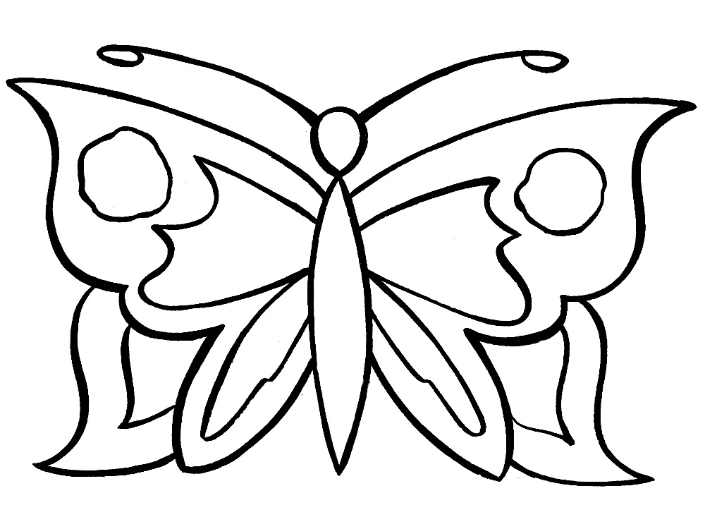 small butterfly coloring pages free pic of butterfly simple in black n white for coloring butterfly small pages